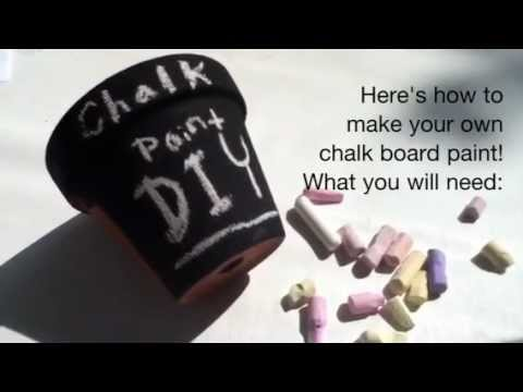 Diy Chalkboard Paint Gift Ideas Recipe Youtube