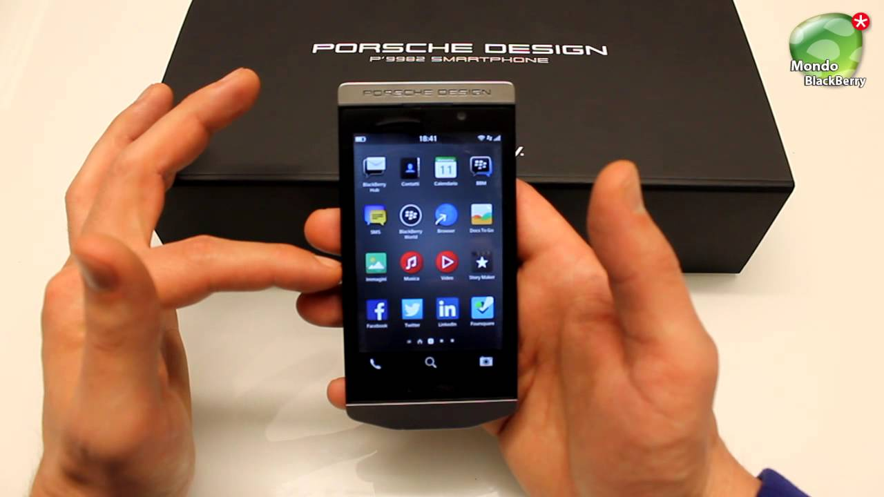 blackberry porsche design p9982 os 10 3 video review. Black Bedroom Furniture Sets. Home Design Ideas
