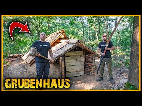 Grubenhaus - Neue Tür und Kronleuchter 😱 - Bushcraft Camp Survival