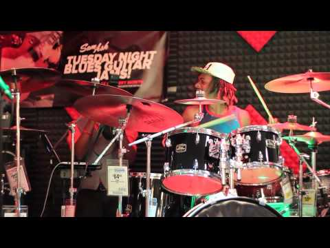 "Devon ""Stixx"" Taylor & Ray Marshall @ Sam Ash Drummers Night Out"