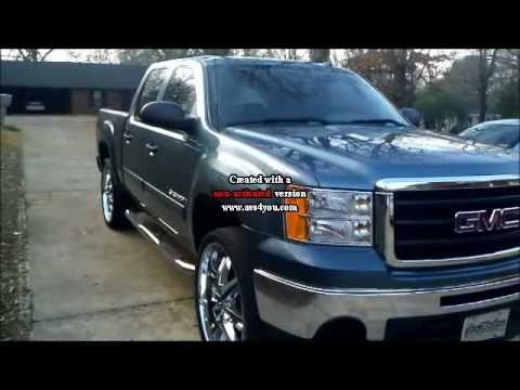 09 GMC Sierra on 26's - YouTube