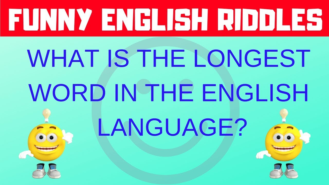Funny English Riddles With Answers Youtube