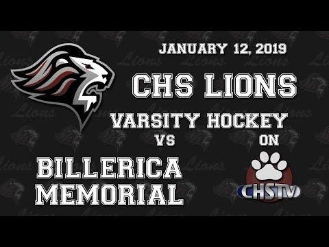 CHS Lions Boys Hockey vs Billerica Jan 12, 2019
