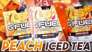 🍑🍵 NEW G-Fuel PEACH ICED TEA First Look AND Taste Test! - WITH LIMITED SHAKER AND STICKER!