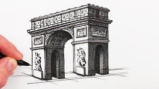 How to Draw an Optical Illusion: The Impossible Arch