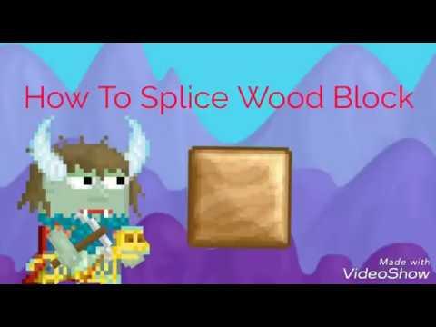 How To Splice Wood Block In Growtopia Youtube