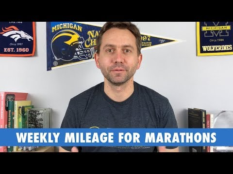 How many miles per week for marathon training?