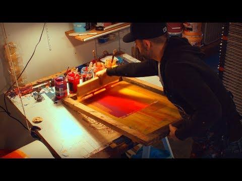 "Screen Printing Process Video - James Flames ""Sonic Boom"""