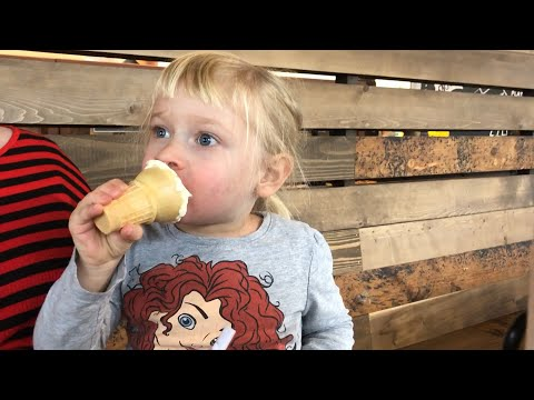 Juliet Eating Ice Cream @ Dickey's Barbecue Pit