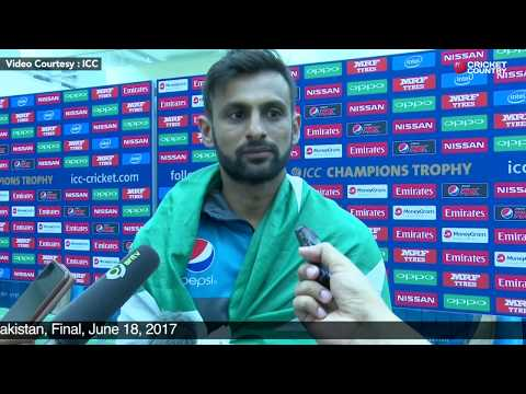 Shoaib Malik Post Match Press Conference, India vs Pakistan, Final, June 18, 2017