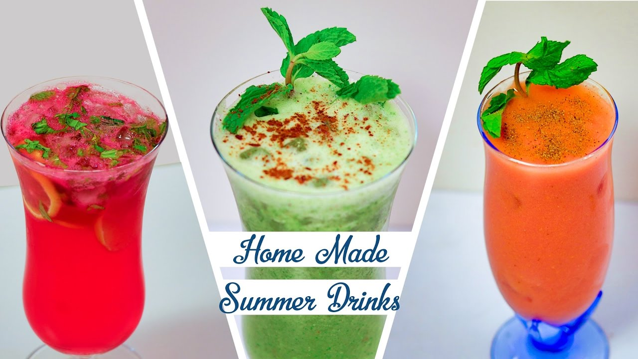 homemade summer drinks recipe how to make easy refreshing summer coolers youtube. Black Bedroom Furniture Sets. Home Design Ideas