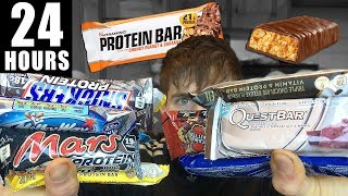 ONLY EATING PROTEIN BARS FOR 24 HOURS... Epic cheat day challenge