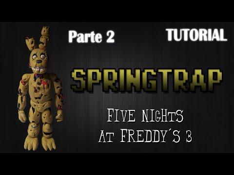 [Parte 2] Tutorial Springtrap en Plastilina | FNaF 3 | How to make a Springtrap with Clay