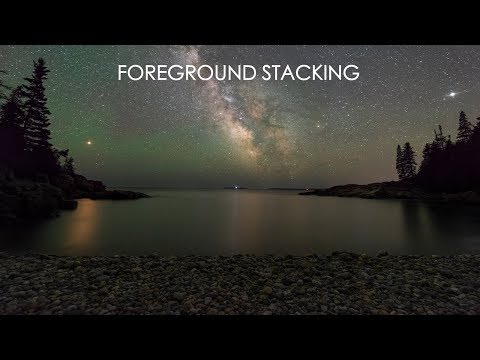 Foreground Stacking for Cleaner Night Images