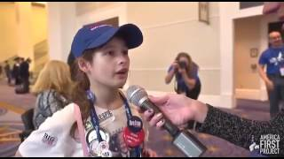 Donald trumps grand daughter???(very surprising interview)