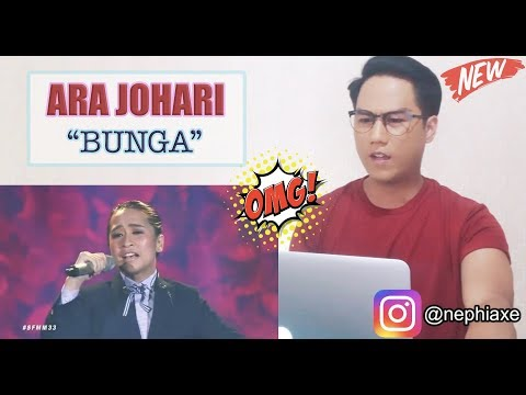 Bunga - Ara Johari | #SFMM33 | SINGER REACTS