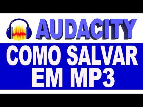 Como Salvar em MP3 no Audacity