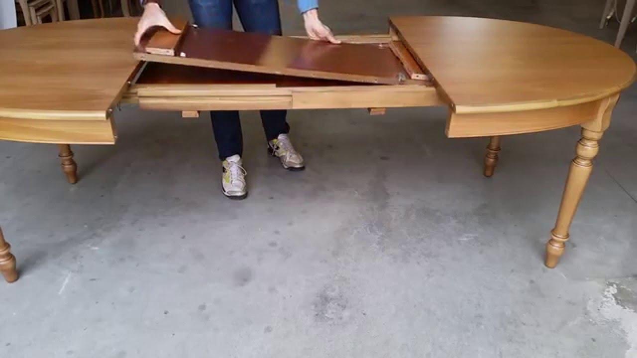 TAVOLO OVALE ALLUNGABILE IN LEGNO - YouTube