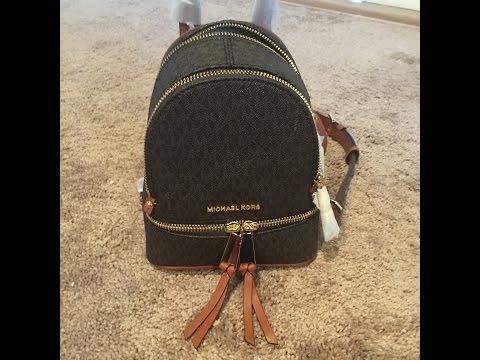 d74dcd83c79 Michael Kors Rhea Mini backpack - YouTube