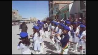 Salar Uyuni, Aniversario Bolivia, Banda de guerra  Arostegui.mp4