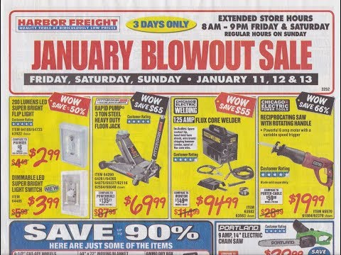 Harbor Freight January Parking Lot Sale Ad