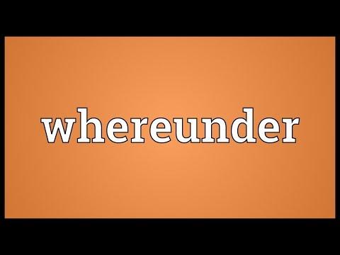 Header of whereunder