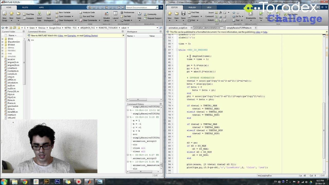 how to create scara in matlab