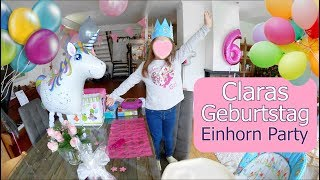 Claras 6. Geburtstag! Einhorn Kino Party | Mamiseelen