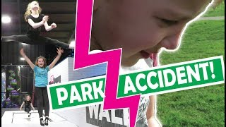 Just... The trampoline park + 8 Year Old has an Accident!
