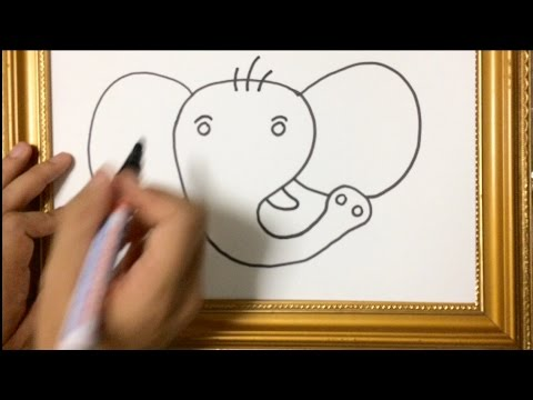 Tutorial How To Learn Basic Drawing Animal Face Elephant Youtube