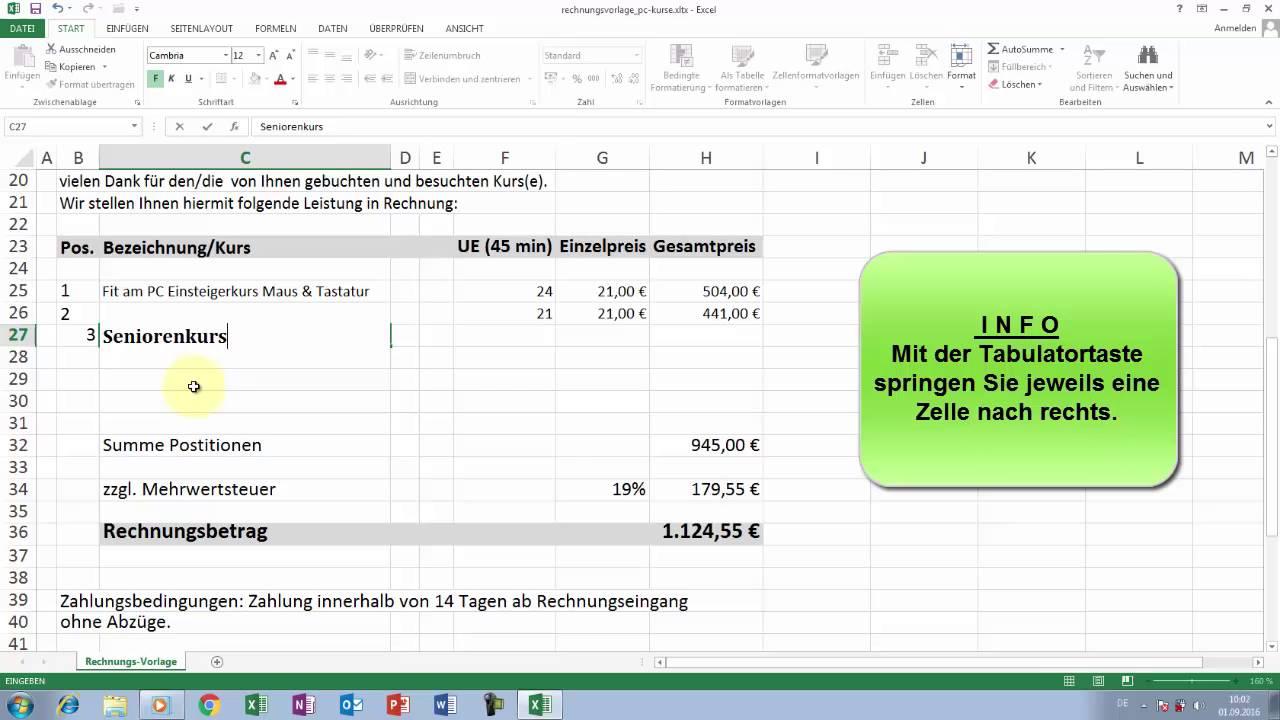 Fein Excel 2003 Rechnungsvorlage Bilder - Entry Level Resume ...
