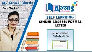 Sender Address Formal Leтter   English   Letter Writing   Ms. Mrinal Bhasin   abhyasonline.in