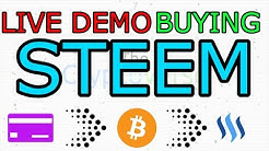 LIVE DEMO: How To Buy Steem With A Debit Card Via Bitcoin In Less Than 5 Minutes (The Cryptoverse)