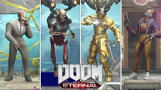 DOOM ETERNAL - All Demon Event Skins, Stances, Intro, \u0026 Victory Animations Showcase (March 2021)