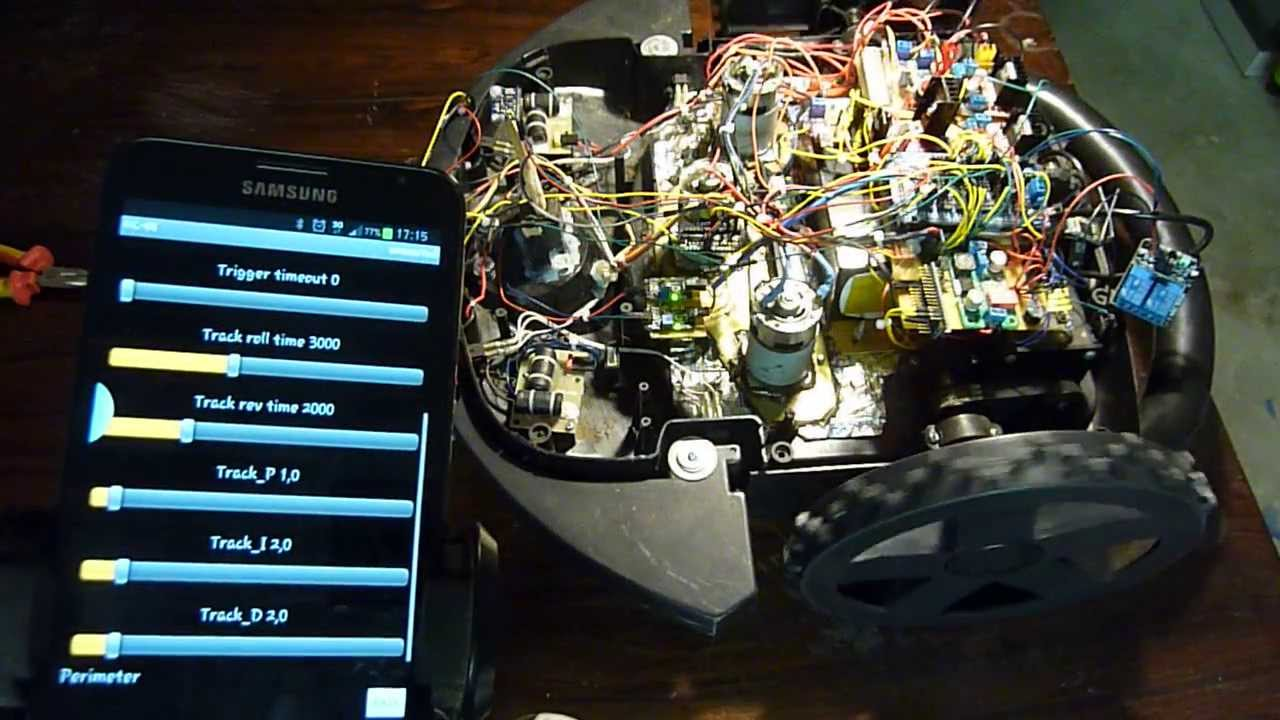arduino android bluetooth smartphone controlled lawn mower