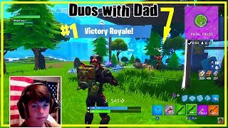 Bad 12 Year Old Fortnite Player (BATTLE ROYALE) Duos w/ ShutUpDad