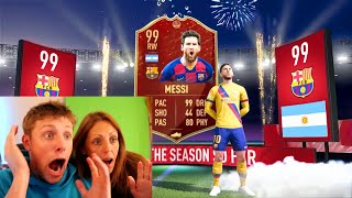 MY MUM GETS A TOTS IN TOP 100 FUT CHAMP REWARDS - FIFA 20