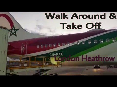 Royal Air Maroc Boeing 737 MAX | London Heathrow Walk Around & Night Take off | 1st Flight