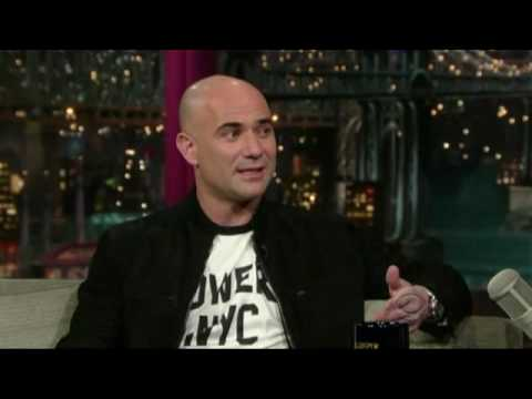 Andre Agassi on David Letterman Complete 12