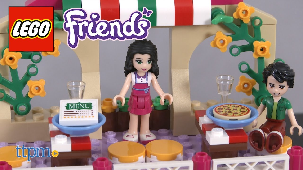 Lego Friends Heartlake Pizzeria From Lego Youtube