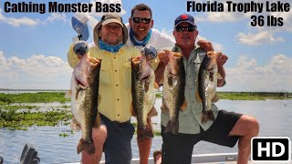 Catching Monster Largemouth Bass in Central Florida Hawg Trough.