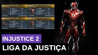 FLASH LIGA DA JUSTIÇA INJUSTICE 2: GEARS E SKINS DO FLASH EVENTO LIGA DA JUSTIÇA #injustice2