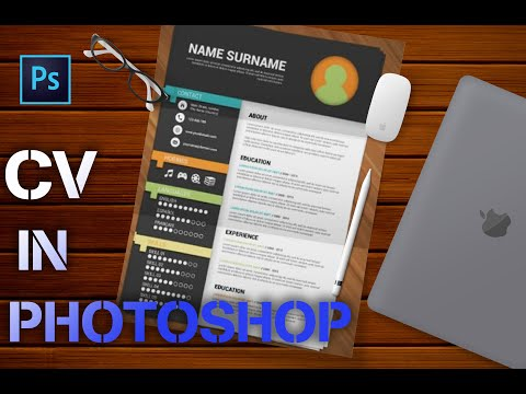 Create a CV in Photoshop Part 1|Design CV in Photoshop