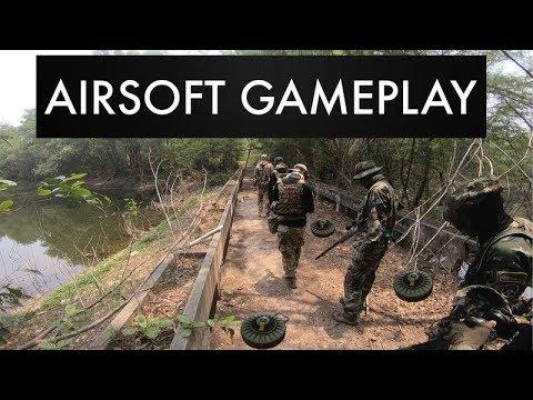 Airsoft Sniper ข้ามสะพานที่เต็มไปด้วยกับระเบิด l Milsim Thailand #7