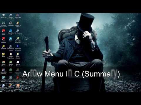 Arrow Menu Using The C Programming Language