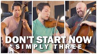 Don't Start Now - Dua Lipa violin/cello/bass cover - Simply Three | STUDIO SESSIONS
