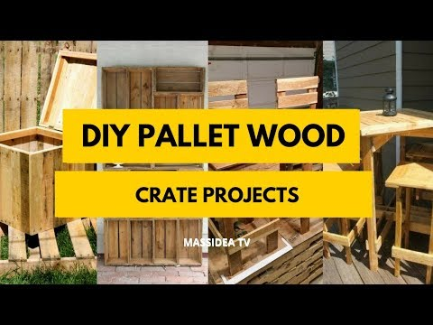 50+  Best DIY Pallet Wood Crate Projects 2018