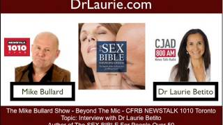 pt 1/3 Mike Bullard interviews Dr Laurie Betito, author, Sex Bible for People Over 50