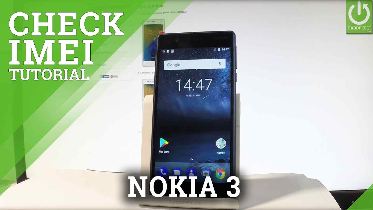 How to Check IMEI in NOKIA 3 - IMEI Number in NOKIA