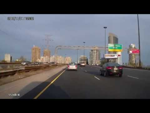 Driving in the Greater Toronto Area from one corner to the other.
